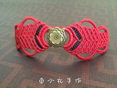 macrame red bracelet handmade wedding present