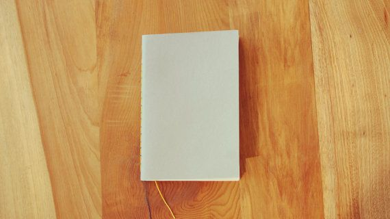 Libreta gris encuadernada a mano tamaño por ElAlmacenDeAlima