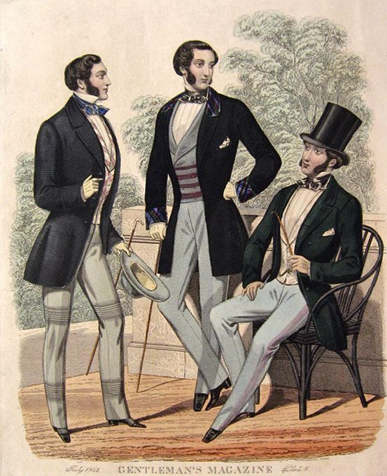 Иллюстрация  из «Журнала джентльмена». 1850-е годы