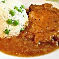 Recept : Minutková krkovička na cibuli, hrášková rýže | ReceptyOnLine.cz - kuchařka, recepty a inspirace