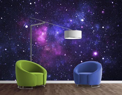 Wtd non woven wall mural galaxy wallpaper fleece for Outer space fleece