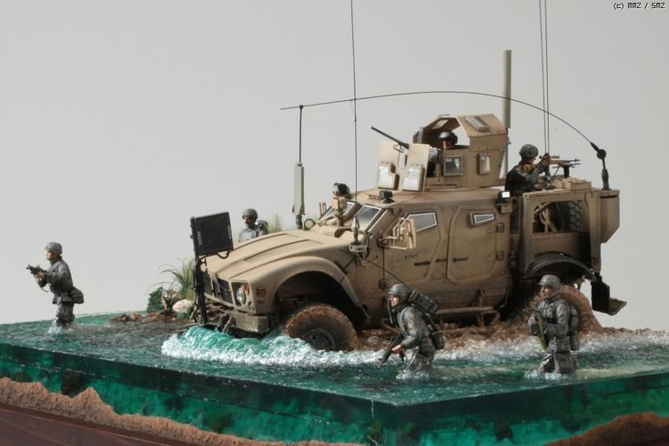 River Crossing - Oshkosh M-ATV - MRAP (Mine Resistant Ambush Protected) 1/35 Scale Model Diorama