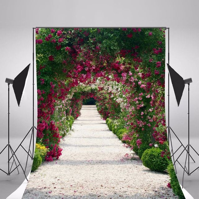 2017 Hot Wedding Photography Backgrounds Photo Backdrops Camera Fotografica 10x20FT Flowers Scenic Background Studio Props