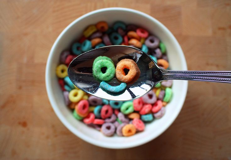 Favourite cereal as a kid. Froot loops. #thumbsup