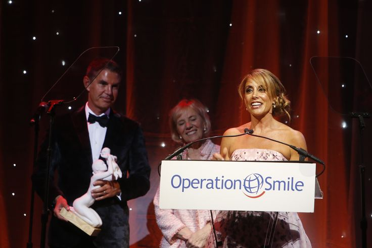 Barbara Makeski is honored with an Operation Smile Founders Circle Award, Thursday, May 14, 2015 in New York. (Photo by Jason DeCrow/Invision for Barbara Majeski/AP Images)