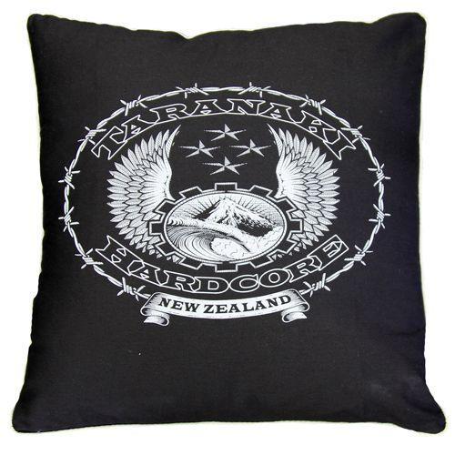 Taranaki Hardcore White Cushion
