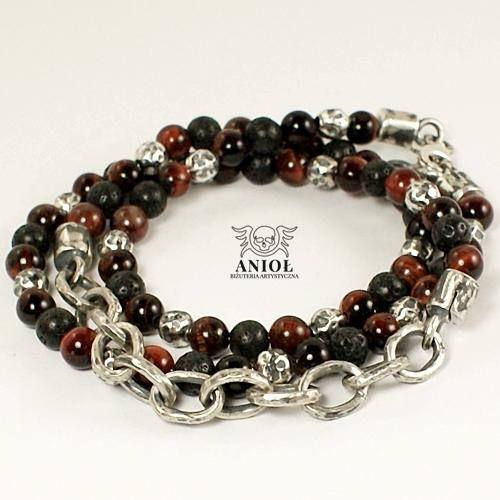 Chain Bracelet  100% Sterling Silver  MEN JEWELRY  Rocker