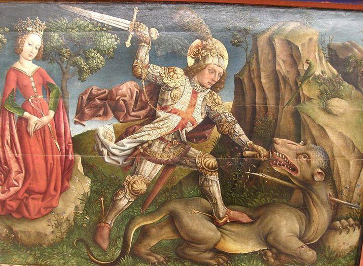"""El dragón es un reptil y la palabra reptil viene del latín reptile que proviene a su vez del adjetivo reptilis: """"que se arrastra"""". Estos seres simbolizan desde muy antiguo en Occidente (en Oriente los dragones vuelan y revisten un significado positivo) la Materia en confrontación con el Espíritu, cuya naturaleza aérea suele representarse por seres alados. Son numerosas las historias en que una dama en apuros es conquistada por su caballero a través de la victoria sobre un dragón."""