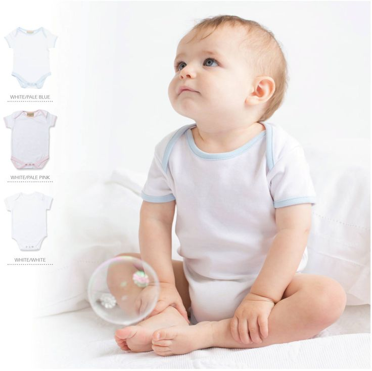 Contrast baby bodysuit - can be personalised