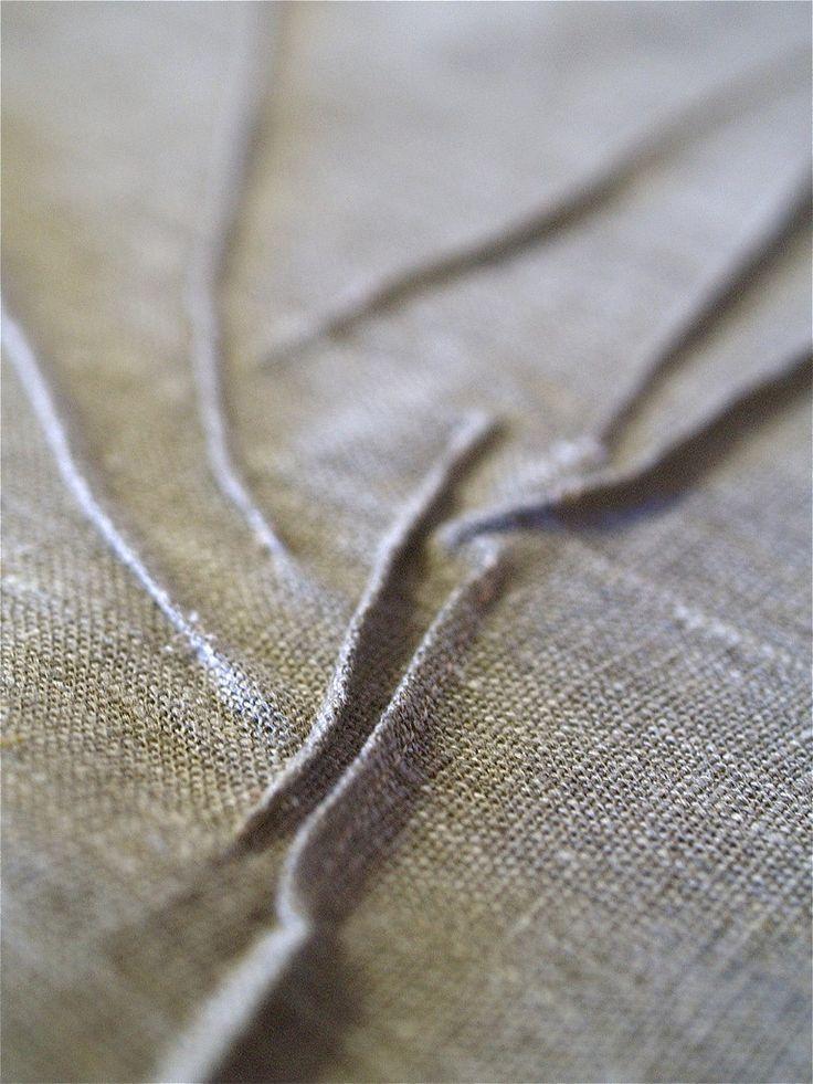 raised line texture | by Yorktown Road Carol Gilbert pin tucks create raised lines
