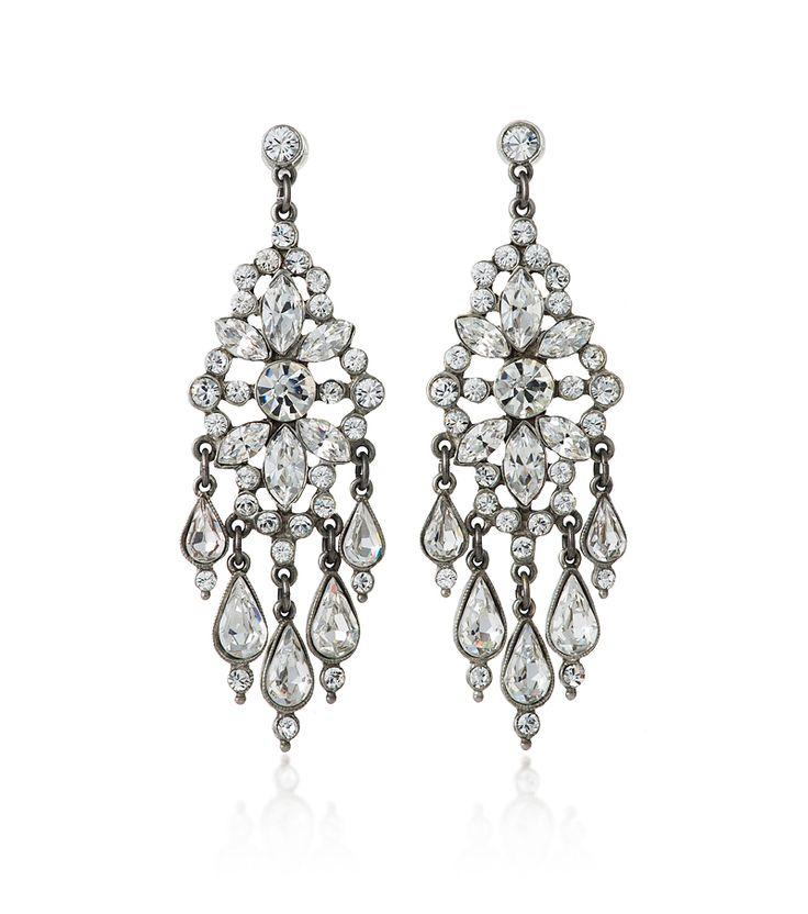Teardrop Crystal Chandelier Earring
