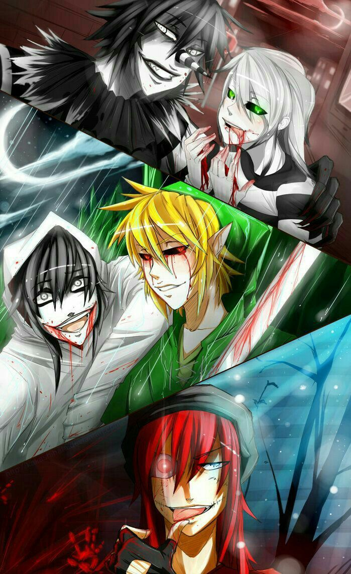 Laughing Jack, Jeff the Killer, Ben Drowned, Zero; Creepypasta  Please tell me the names of the missing Creepypastas if you know