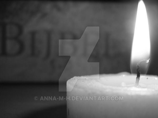 -B-W- Candle and Holy Bible by Anna-M-H on DeviantArt