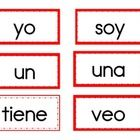 This is a list of common Kindergarten high frequency words (in Spanish!) that you can use for your word wall or as flashcards. There are 2 borders....