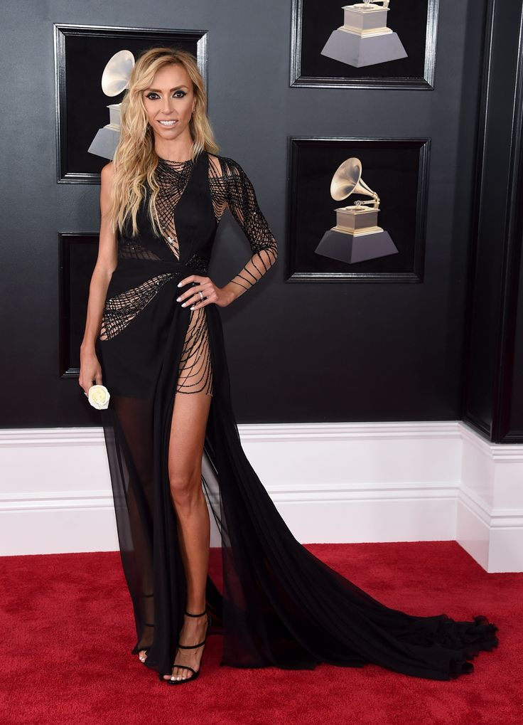 Giuliana Rancic wearing Mikael D, Giuseppe Zanotti, and Hearts on Fire - Every Single Look From the 2018 Grammys Red Carpet