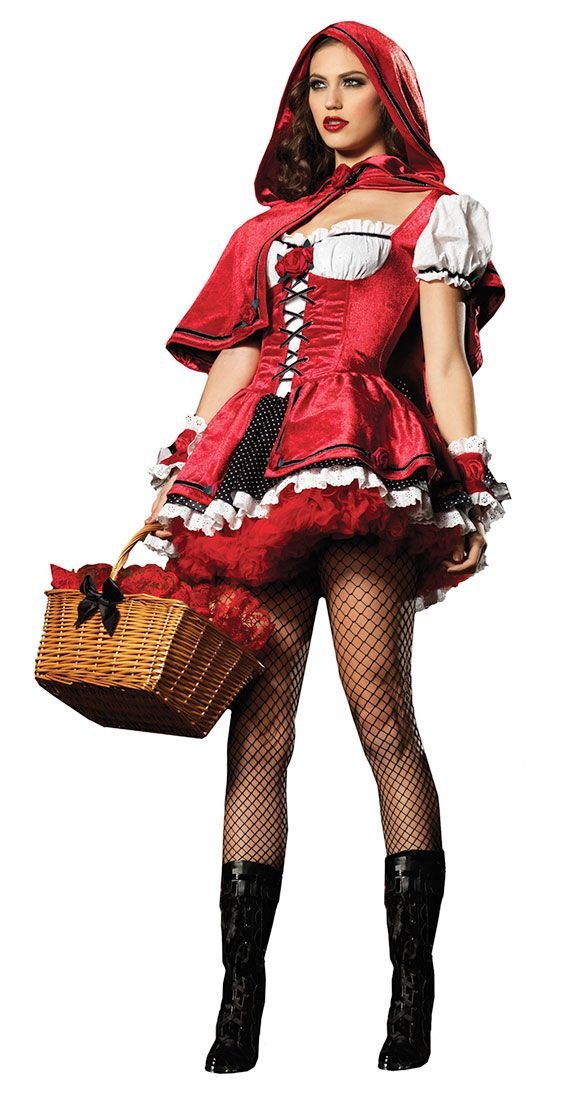 adult red riding hood costume ideas | Sexy Super Deluxe Red Riding Hood Costume - Sexy Halloween Costumes