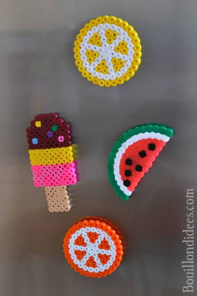 DIY fabriquer des magnets en perles à repasser HAMA pour le frigo…