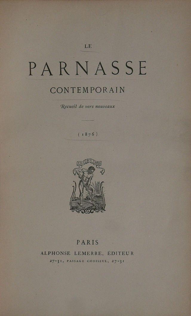 El Parnasianismo  fue un movimiento literario francés de la segunda mitad del siglo XIX creado como reacción contra el romanticismo de Víctor Hugo, el subjetivismo y el socialismo artístico.