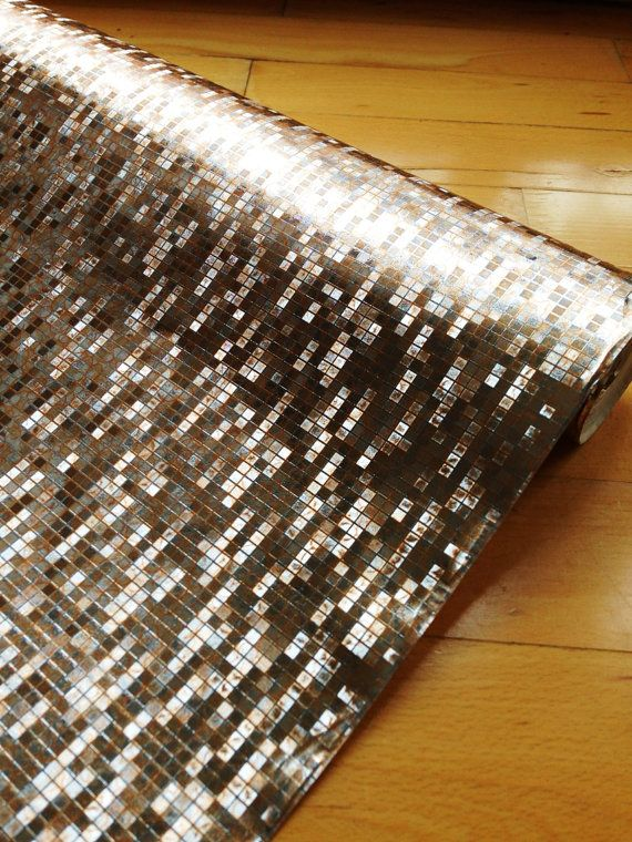 Could this be used as bookshelf background Bling bling bronze wallpaper by Patternlike on Etsy, kr70.00