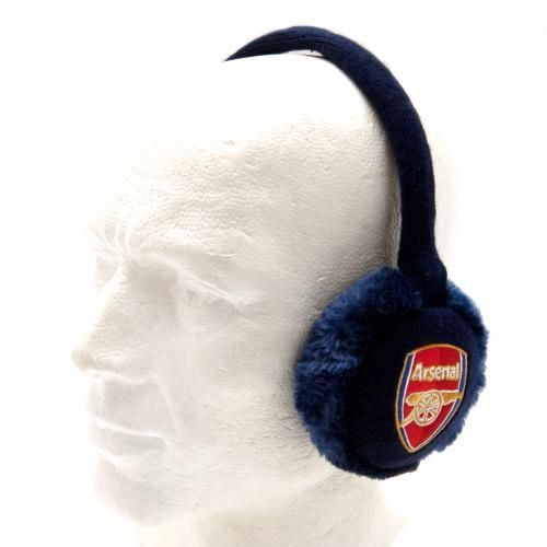 Adjustable adult's Arsenal ear muffs in navy and featuring and embroidered club crest. One size fits all. FREE DELIVERY on all of our gifts