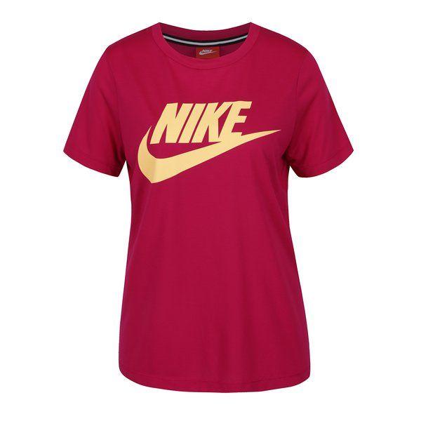 Tricou roz cu logo Nike pentru femei