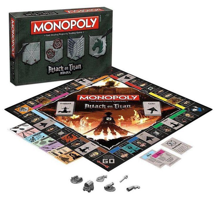MONOPOLY Attack on Titan Board Game