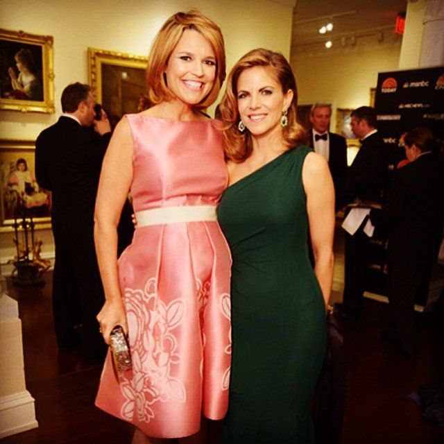 Pin for Later: Go Inside DC's Glamorous Celebrations With the Stars' Cutest Candids!  Savannah Guthrie showed off her baby bump in a cute photo with Today colleague Natalie Morales.  Source: Instagram user savannahguthrie