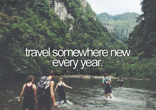 Travel somewhere new every year. To do. 2013: London, 2014: Bordeaux and Lille, 2015: Warsaw #Bucketlist