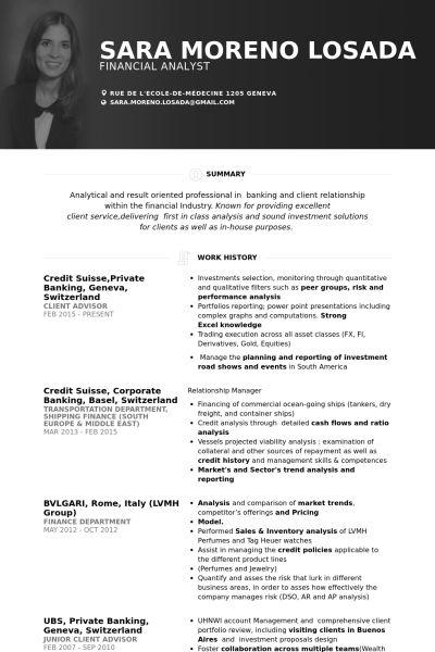 1000+ ötlet a következőről Exemple Cv Suisse a Pinteresten - commercial banker resume