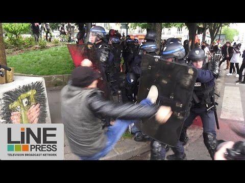 Loi Travail. Très violente manifestation / Paris – France 26 mai 2016 . Line Press 1:13.05 | HumanSinShadow