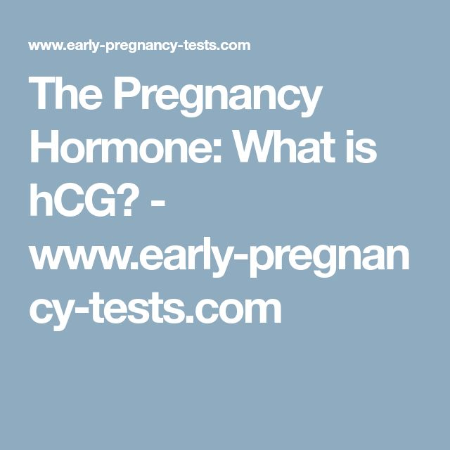 The Pregnancy Hormone: What is hCG? - www.early-pregnancy-tests.com
