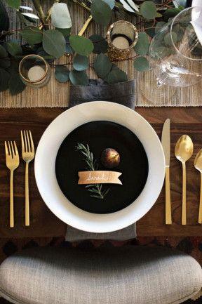 34 brilliant table settings #gold