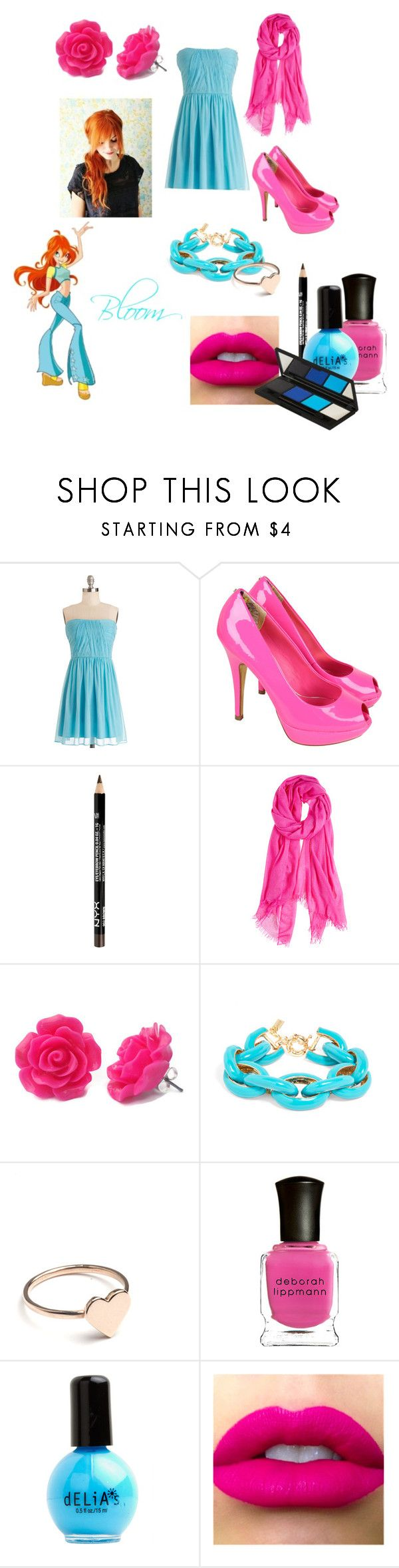 """""""Bloom-Winx Club"""" by fashionlover1256 ❤ liked on Polyvore featuring Ted Baker, Calypso Private Label, Holly Ryan, Deborah Lippmann and Topshop"""