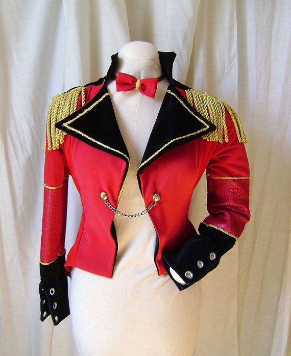 Costume d'Halloween dompteur de cirque veston chapeau par Emillye, $85.00