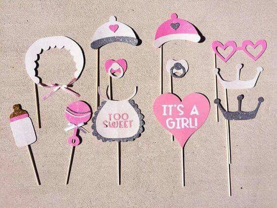 ... baby girl babyshower kyndir s baby photo booth props baby shower girl