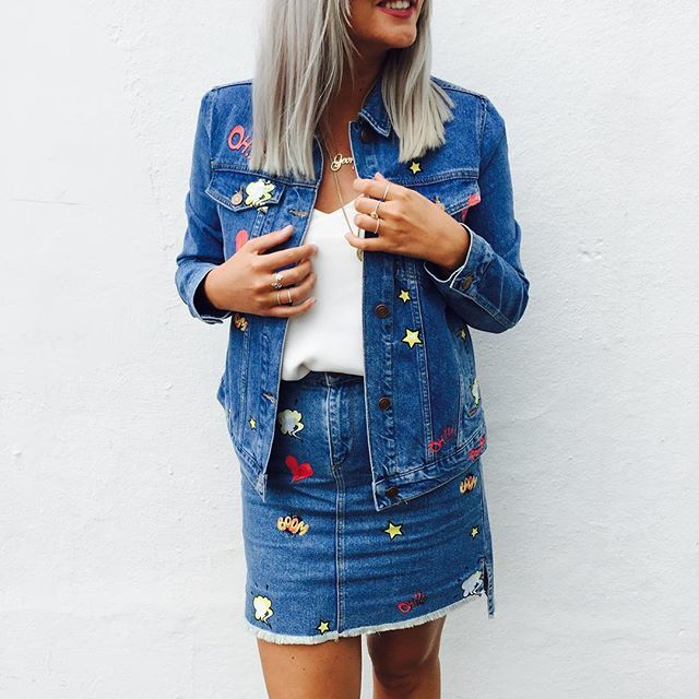 Update your double denim outfit by adding all things customised and embroidered #AsSeenOnMe