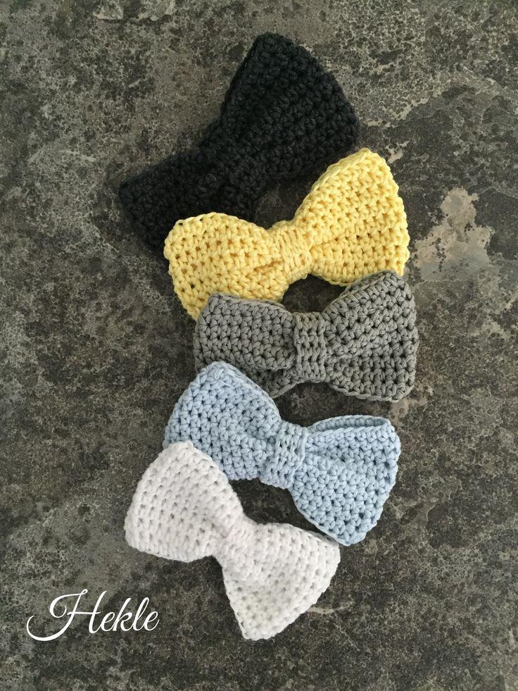 Grey & co Little crochet bow