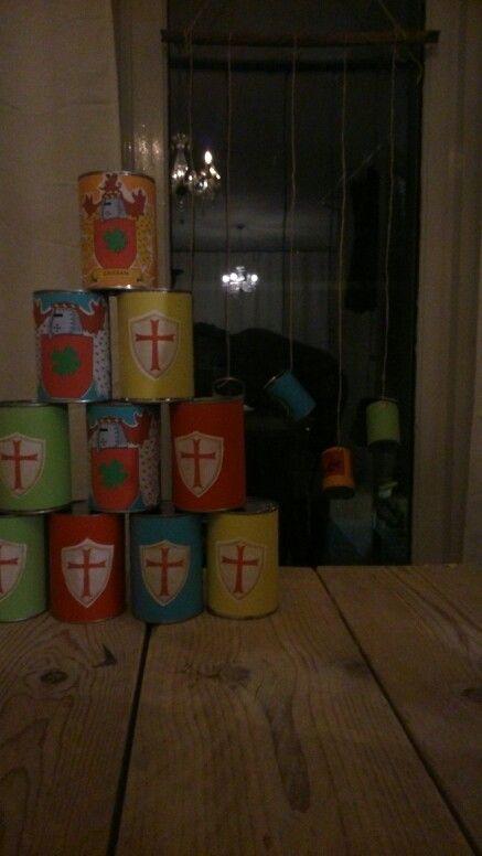 Blik gooien ridder feest