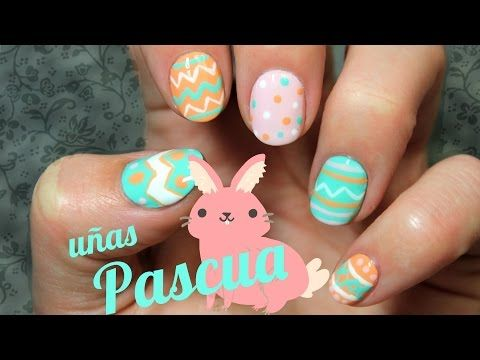 UÑAS DE PASCUA COLORES PASTEL | EASTER EGGS NAIL ART - YouTube