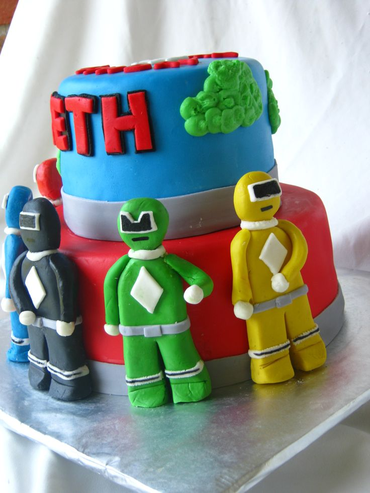 On The Power Rangers Cake To Be Green Kids Are Just So Much Fun