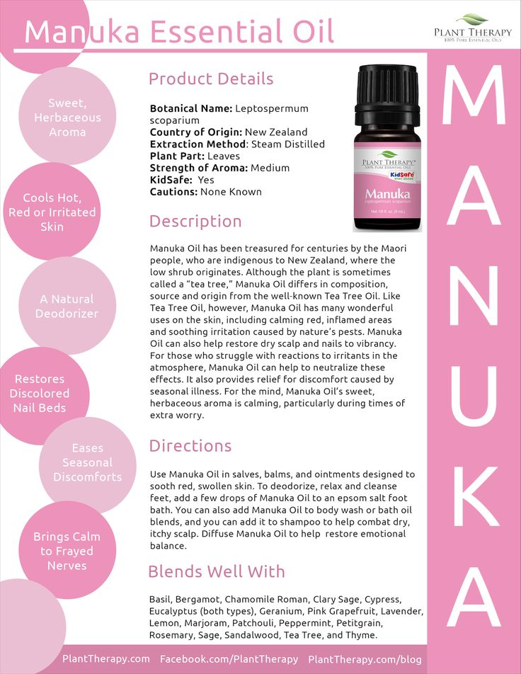 Manuka is such a wonderfully versatile essential oil. I have primarily been using it to calm dry/reddened skin and to ease the itch from bug bites. It works great on a dry scalp and helps improve…