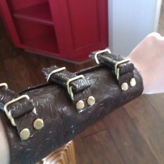 How to Make a Vambrace When You Don't Know How to Sew or Work Leather