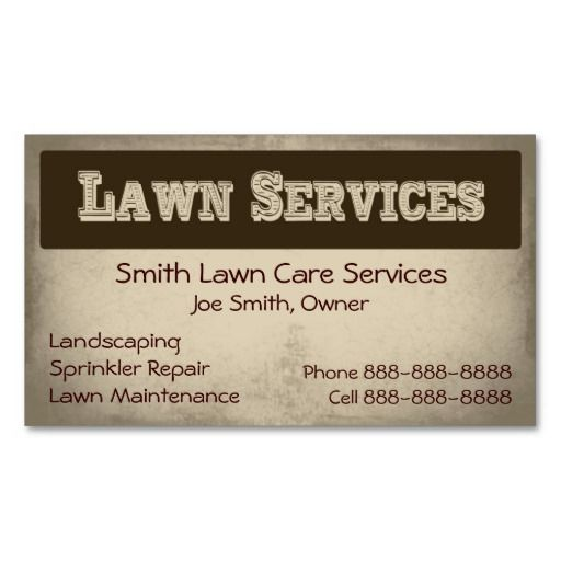 Lawn Service And Landscape: 1000+ Images About Lawn Care Business Cards On Pinterest
