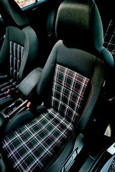 VW GTI interior fabric