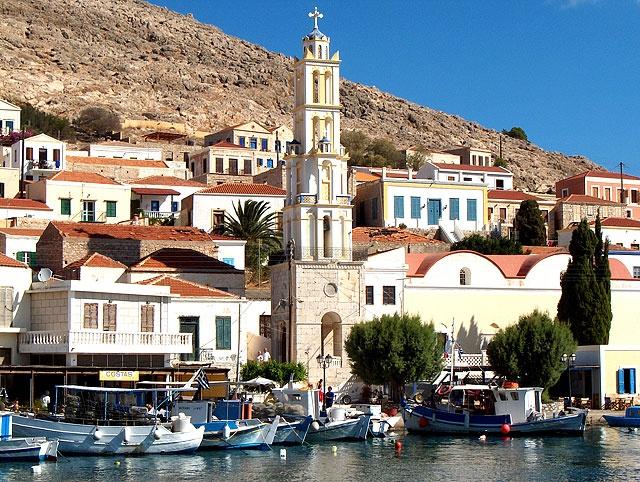 Halki island near Rhodos island, Greece