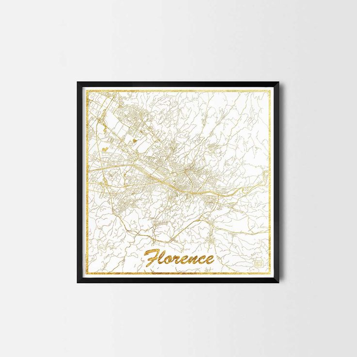 Florence map posters are high quality map art prints of a great city. Perfect for the house and office or as a gift for a friend.