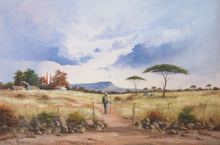 Pieter van Heerden - Walking Home (910 x 610) (SOLD)