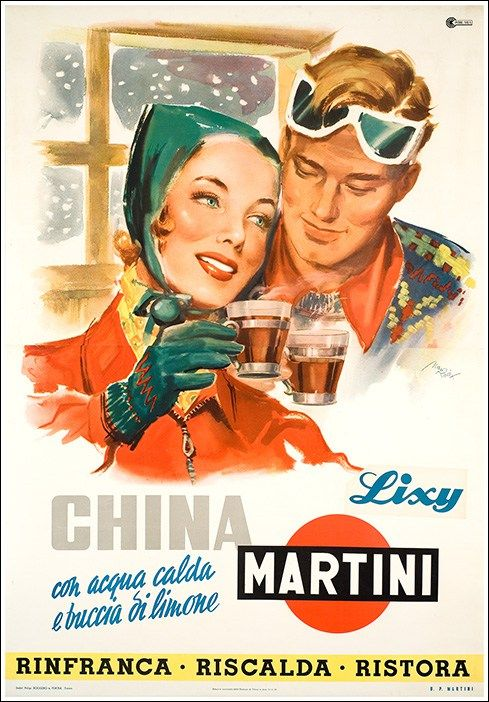 China Martinimanifesto #vintage #original #poster bere montagna mountain www.posterimage.it