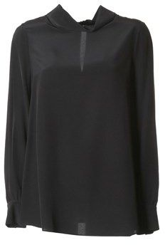 Twin-Set Women's Black Silk Blouse.