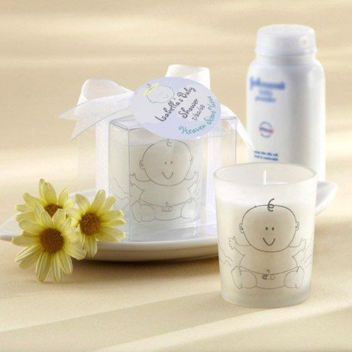 votive baby shower candle favor baby showers powder and baby powder